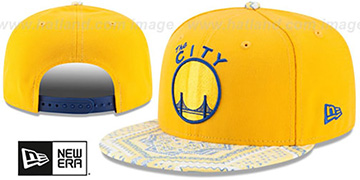 Warriors 'KALEIDOVIZE SNAPBACK' Gold Hat by New Era