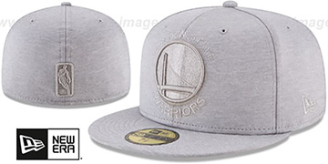 Warriors MEGATONE Grey Shadow Tech Fitted Hat by New Era