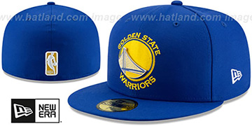 Warriors METAL-N-THREAD Royal Fitted Hat by New Era