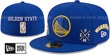 Warriors MULTI-AROUND Royal Fitted Hat by New Era