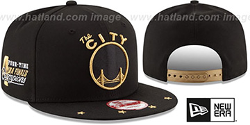 Warriors 'NBA STAR-TRIM SNAPBACK' Black Hat by New Era