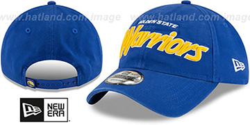 Warriors RETRO-SCRIPT SNAPBACK Royal Hat by New Era