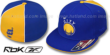 Warriors 'RICK BARRY SWINGMAN' Royal-Gold Fitted Hat by Reebok