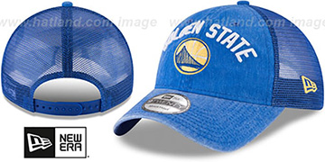 Warriors 'RUGGED-TEAM TRUCKER SNAPBACK' Royal Hat by New Era
