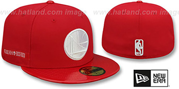 Warriors 'SCARLET HOOK' Red Fitted Hat by New Era