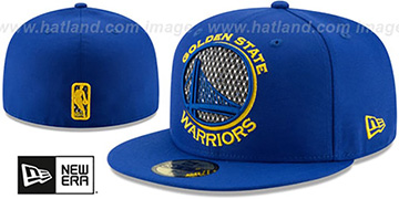 Warriors SHIMMER-XL Royal Fitted Hat by New Era