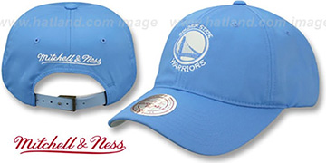 Warriors SLOUCH POWDER STRAPBACK Hat Mitchell and Ness