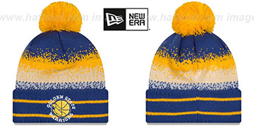 Warriors SPEC-BLEND Knit Beanie Hat by New Era