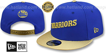 Warriors SWINGMAN SNAPBACK Royal-Gold Hat by New Era