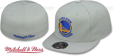 Warriors TEAM-BASIC Grey Fitted Hat by Mitchell and Ness