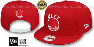 Warriors TEAM-BASIC SNAPBACK Red-White Hat by New Era