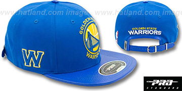 Warriors 'TEAM-BASIC STRAPBACK' Royal Hat by Pro Standard
