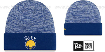 Warriors TEAM-RAPID Royal-White Knit Beanie Hat by New Era