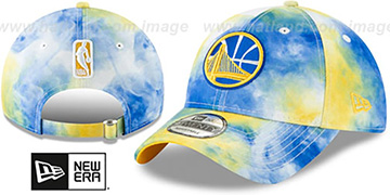 Warriors TIE-DYE STRAPBACK Hat by New Era