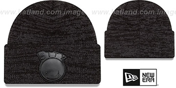 Warriors TONAL TRICK Black-Grey Knit Beanie Hat by New Era