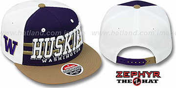 Washington 2T SUPERSONIC SNAPBACK Purple-Gold Hat by Zephyr