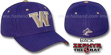 Washington 'DH' Fitted Hat by ZEPHYR - purple