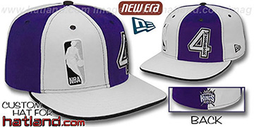 Webber DOUBLE WHAMMY White-Purple Fitted Hat