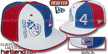 Webber 'DOUBLE WHAMMY' White-Royal-Red Fitted Hat