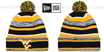 West Virginia NCAA-STADIUM Knit Beanie Hat by New Era