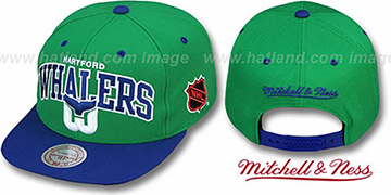 Whalers 2T TEAM ARCH SNAPBACK Adjustable Hat by Mitchell & Ness