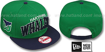 Whalers CHENILLE-ARCH SNAPBACK Green-Navy Hat by New Era