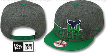 Whalers 'FLANNEL SNAPBACK' Grey-Green Hat by New Era