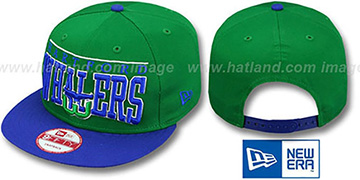 Whalers VINTAGE LE-ARCH SNAPBACK Green-Royal Hat by New Era