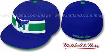 Whalers 'VINTAGE SLAPSHOT' Fitted Hat by Mitchell & Ness