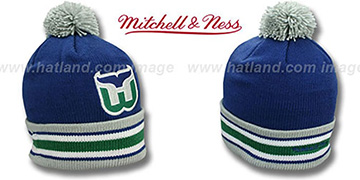 Whalers XL-LOGO BEANIE Navy by Mitchell and Ness