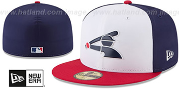White Sox '2018 PROLIGHT-BP' ALTERNATE White-Navy-Red Fitted Hat by New Era