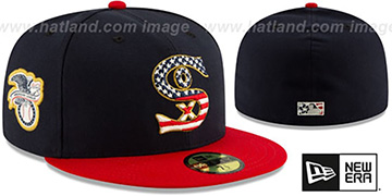 White Sox 2019 JULY 4TH STARS N STRIPES Fitted Hat by New Era