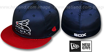 White Sox 2T COOP SATIN CLASSIC Navy-Red Fitted Hat by New Era
