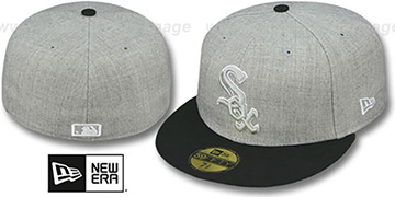 White Sox '2T-HEATHER' Grey-Black Fitted Hat by New Era