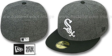 White Sox '2T MELTON-BASIC' Grey-Black Fitted Hat by New Era