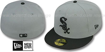 White Sox 2T TEAM-BASIC Grey-Black Fitted Hat by New Era