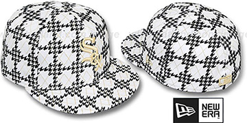 White Sox 'A-TOOTH' White-Black Fitted Hat by New Era