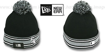 White Sox 'AC-ONFIELD' Black Knit Beanie Hat by New Era