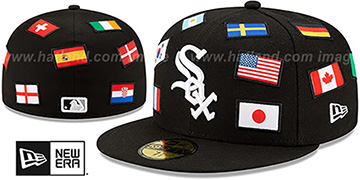 White Sox 'ALL-OVER COUNTRY FLAGS' Black Fitted Hat by New Era