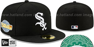 White Sox BANDANA KELLY BOTTOM Black Fitted Hat by New Era