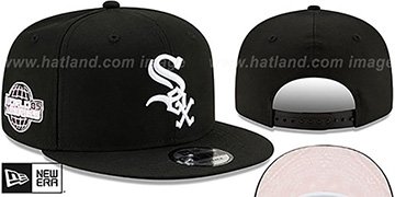 White Sox 'BANDANA PINK BOTTOM SNAPBACK' Black Hat by New Era