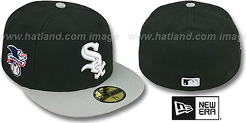 White Sox 'BAYCIK' Black-Grey Fitted Hat by New Era