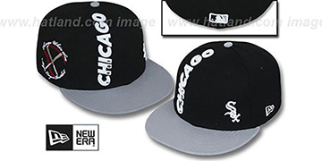 White Sox 'BEELINE' Black-Grey Fitted Hat by New Era