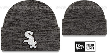White Sox 'BEVEL' Grey-Black Knit Beanie Hat by New Era