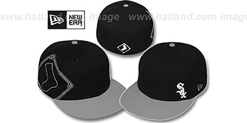 White Sox 'BIG-STITCH' Black-Grey Fitted Hat by New Era