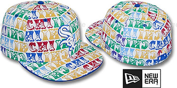 White Sox BIG-TOP White-Multi Fitted Hat by New Era