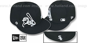 White Sox BIGGY FLAW MLB INSIDER Black Fitted Hat by New Era