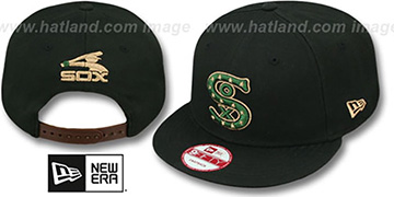 White Sox 'BITD SNAPBACK' Black-Green-Tan Hat by New Era