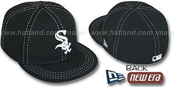 White Sox 'BLACK PURSE STITCH' Fitted Hat by New Era