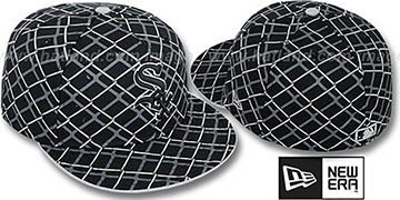 White Sox 'CHAIN-LINK' Black Fitted Hat by New Era